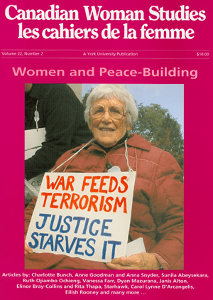 Women and Peace Building cover