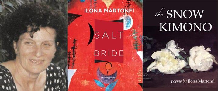 Ilona Martonfi and her two books