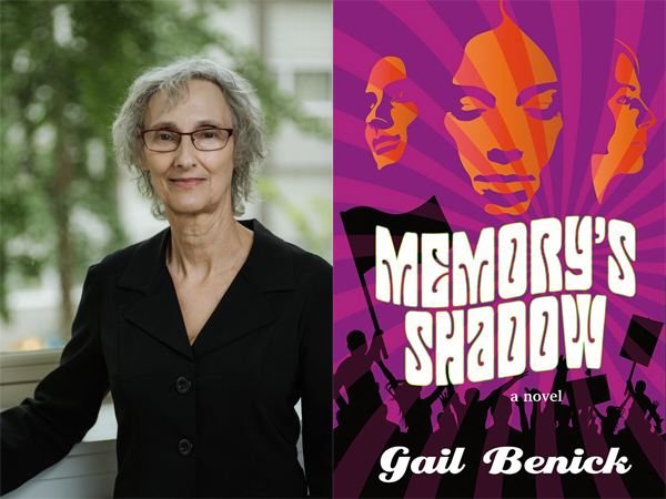 Author Gail Benick and Memory's Shadow book cover