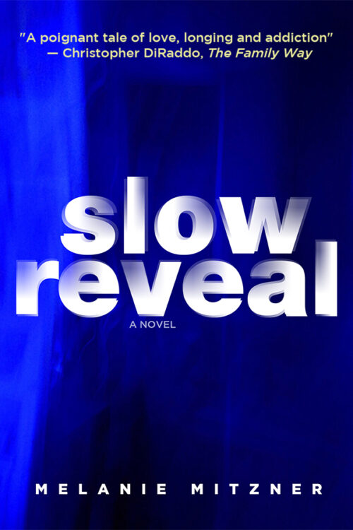 vibrant blue background with title Slow Reveal